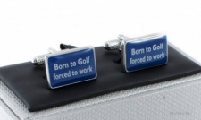 Born To Golf Cufflinks